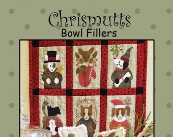 Chrismutts Bowl Filler Kit, Wool Appliqué and Embroidery