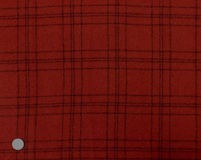 Red Velvet, Felted Wool Fabric for Rug Hooking, Wool Applique and Crafts