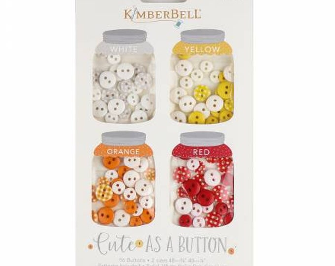 Cute As A Button White, Yellow, Orange and Red