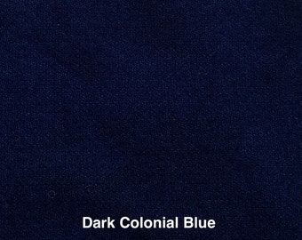 Colonial Blues, Hand Dyed Fat Quarters of Felted Wool Fabric for Rug Hooking, Wool Applique or Crafts