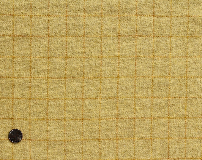 Lemon Zest, Felted Wool Fabric for Rug Hooking, Wool Applique and Crafts
