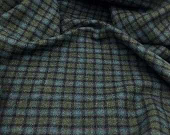 Merlin Plaid, Felted 100% Wool Fabric for Rug Hooking, Wool Applique and Crafts