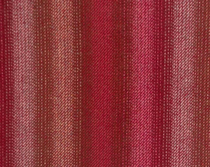 Red & Tan Ombre, Felted Wool for Rug Hooking, Wool Applique and Crafts