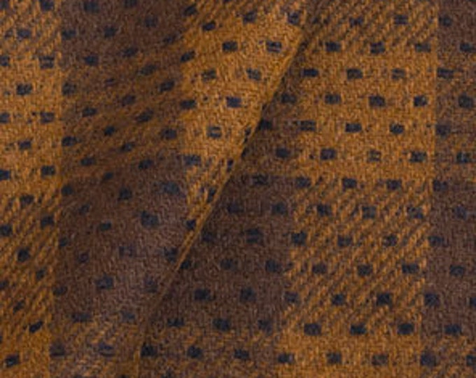 Dark Brown and Brown, Felted Wool Fabric for Rug Hooking, Wool Applique and Crafts