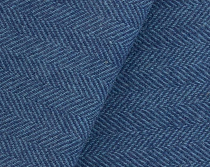 Navy and Wedgewood, Felted Wool Fabric for Rug Hooking, Wool Applique and Crafts