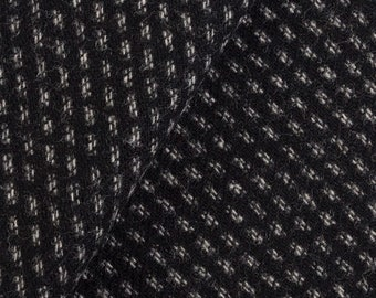 Black and White Texture, Felted Wool Fabric for Rug Hooking, Wool Appliqué and Crafts