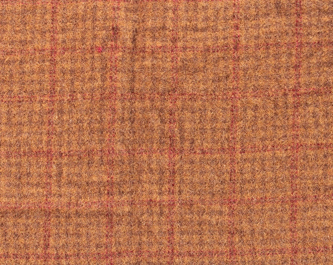El Dorado Plaid, Wool Fabric for Rug Hooking, Wool Applique & Crafts
