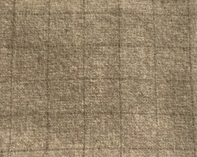 Cobblestone, Fat Quarter Yard, 100% Felted Wool Fabric for Rug Hooking, Wool Applique & Crafts