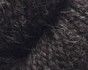 Rauma Ryegarn Norwegian Wool Rug Yarn, 2 ply, #516 Heather Black