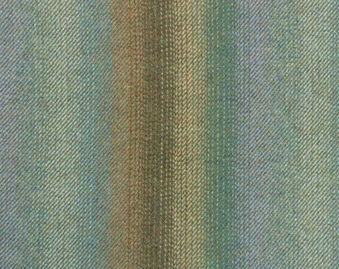 Green, Teal and Tan Ombre, Felted Wool for Rug Hooking, Wool Applique and Crafts