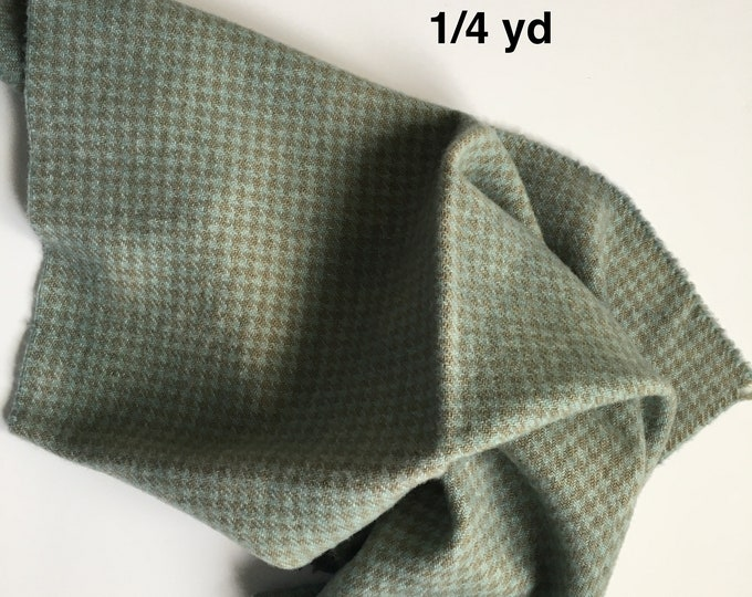 Verdigris Wash, Fat Quarter of Hand Dyed Wool for Rug Hooking and Wool Applique