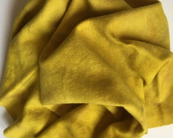 Chartruese, Hand Dyed Half Yard, Felted Wool Fabric for Rug Hooking, Wool Applique and Crafts