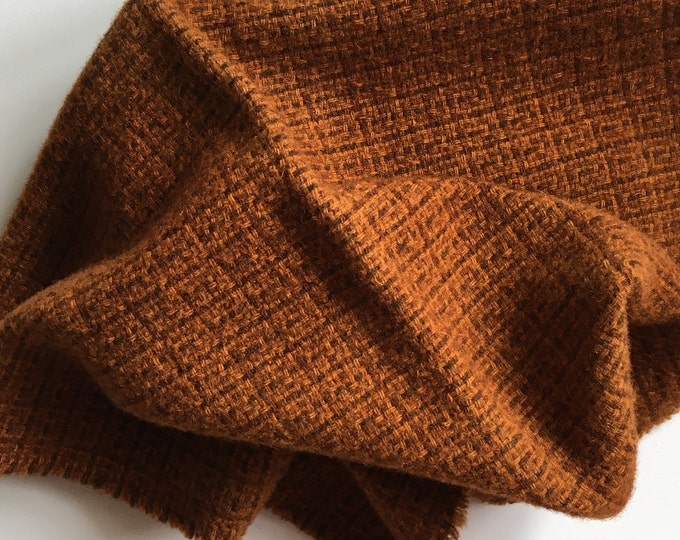 Sweet Potato, Fat Quarter of Felted Wool Fabric for Rug Hooking, Wool Applique and Crafts