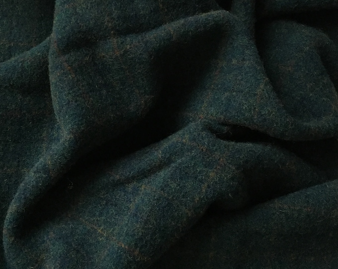 Tempting Teal, Felted Wool Fabric for Rug Hooking, Wool Applique and Crafts