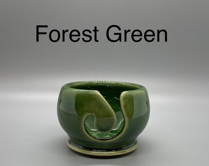 Forest Green, Pottery Thread Bowl