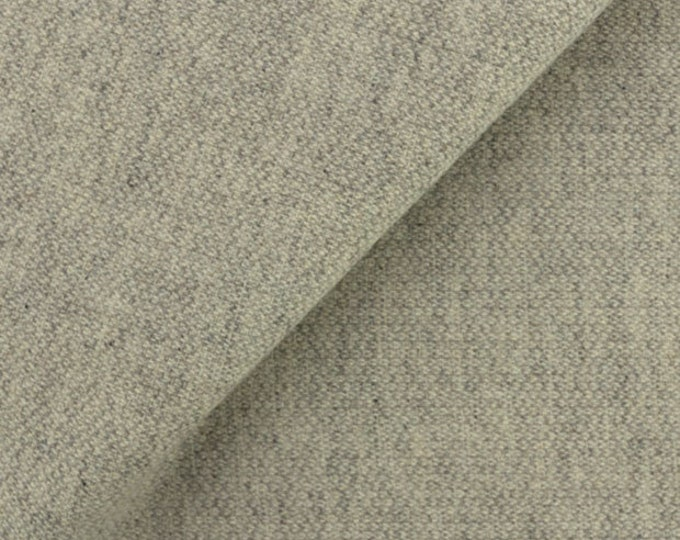 Grey and Cream Barley Corn Weave, Felted Wool Fabric for Rug Hooking, Wool Applique and Crafts