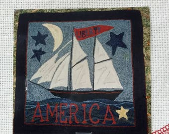 Liberty Ship, Rug Hooking Pattern