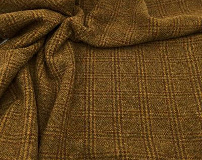 Foxhunt Plaid, Felted Wool Fabric for Rug Hooking, Wool Applique and Crafts