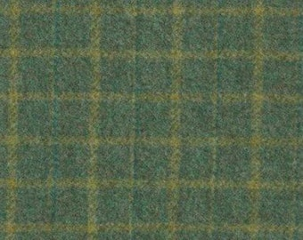 Sea Turtle Green, Felted Wool Fabric for Rug Hooking, Wool Applique and Crafts