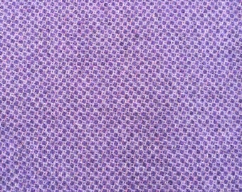 Violet Honeycomb. Felted Wool Fabric for Rug Hooking, Wool Applique and Crafts