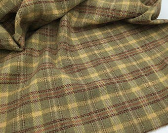 Grumpy Old Man Plaid, Felted Wool for Rug Hooking, Wool Applique and Crafts