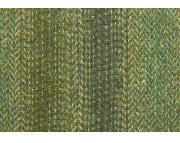 Shades of Green Ombre, Felted Wool for Rug Hooking, Wool Applique and Crafts