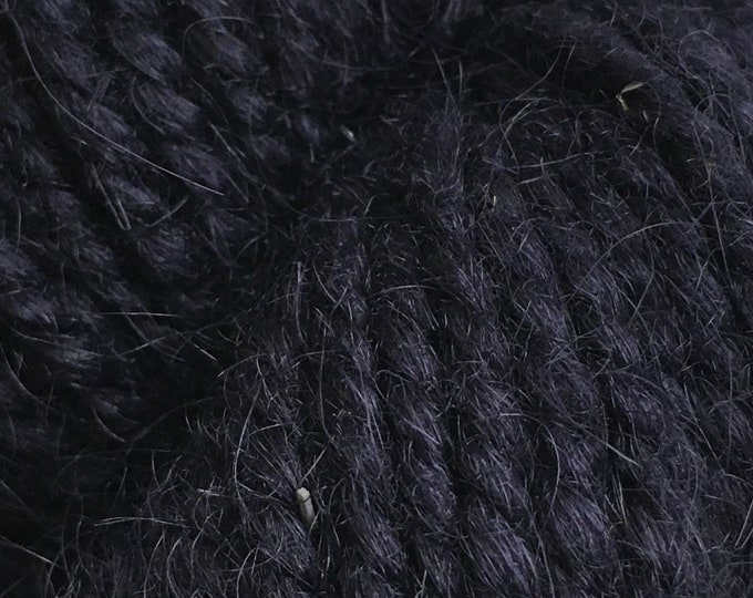 LIMITED EDITION COLOR Rauma Ryegarn, Norwegian Wool Rug Yarn, #759, Dark Navy Blue