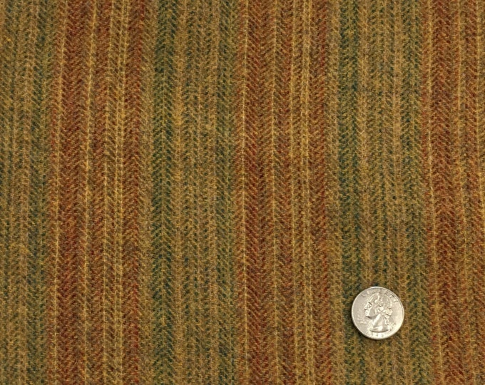 Dog Days of Summer Stripe, Felted Wool Fabric for Rug Hooking, Wool Applique & Crafts