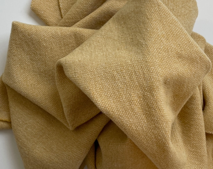 Soft Gold and Natural Barley Corn Weave, Felted Wool Fabric for Rug Hooking, Wool Applique and Crafts