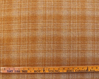 Marilyn's Butterscotch Plaid, 100% Felted Wool Fabric for Rug Hooking, Wool Applique & Crafts