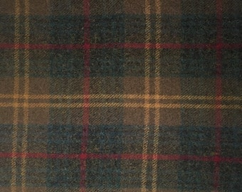 Yukon Plaid, One Yard of Felted Wool Fabric for Rug Hooking, Wool Applique and Crafts