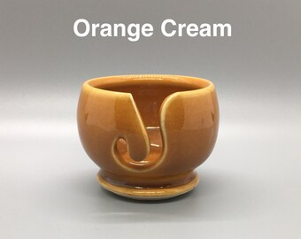 Orange Cream, Pottery Thread Bowl
