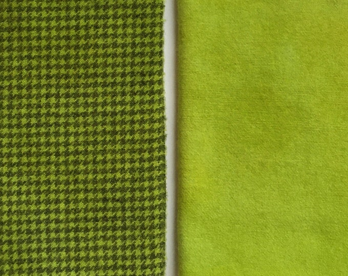 Key Lime, Fat Eighth Hand Dyed Wool for Rug Hooking and Wool Applique