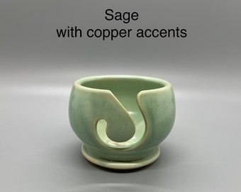 Sage, Pottery Thread Bowl