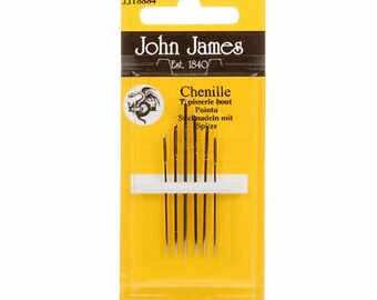 John James Chenille Needles, Assorted Sizes 18/24