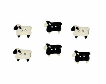 Sheep Buttons by Dress It Up