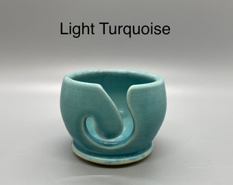 Light Turquoise, Pottery Thread Bowl