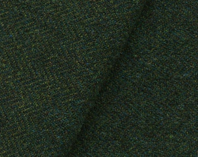 Very Dark Green Heather, Felted Wool Fabric for Rug Hooking, Wool Applique and Crafts