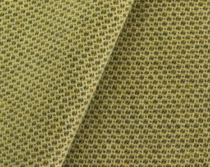 Chartreuse Honeycomb, Felted Wool Fabric for Rug Hooking, Wool Applique and Crafts