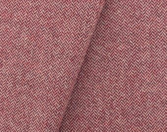 Cranberry & Cream, Felted Wool Fabric for Rug Hooking, Wool Applique and Crafts