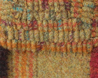 Thai Curry, Felted Wool Fabric for Rug Hooking, Wool Applique and Crafts