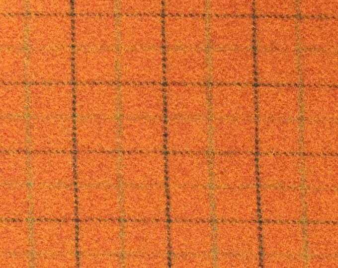 Pumpkin Patch, Felted Wool Fabric for Rug Hooking, Wool Applique and Crafts