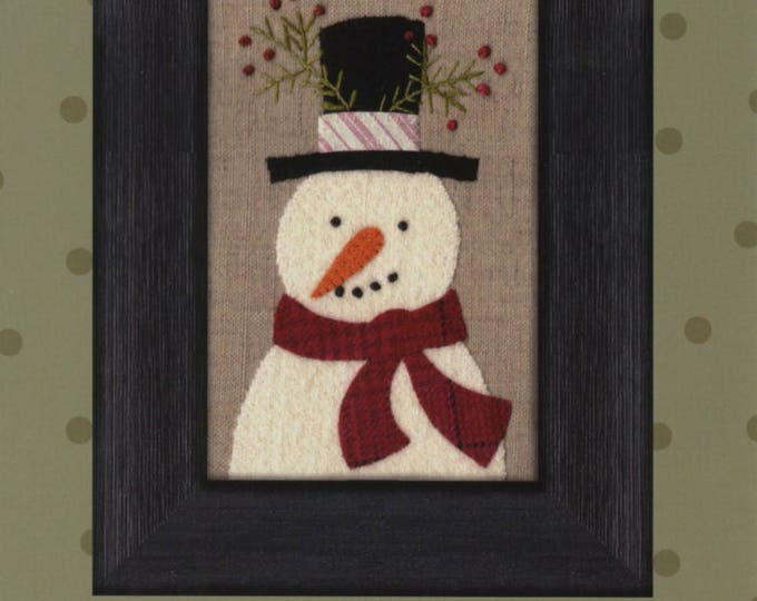 Frosty Kit, Wool Appliqué