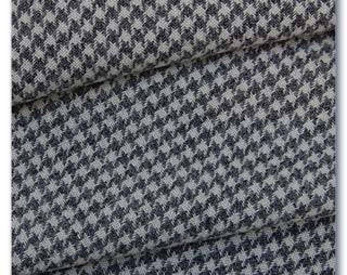 Grey Houndstooth, Felted Wool Fabric for Rug Hooking, Wool Applique and Crafts