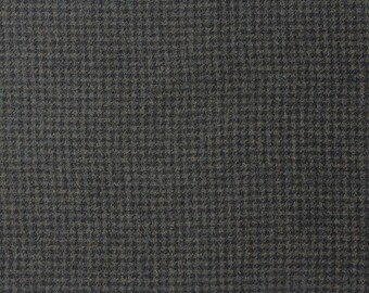 Tiny Black and Green Check, Felted Wool Fabric for Rug Hooking, Wool Applique and Crafts