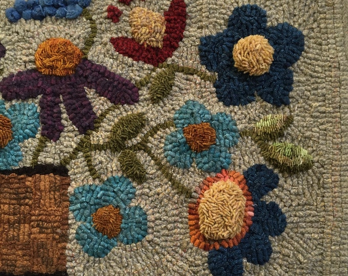 Mary Jane, Felted Wool Fabric for Rug Hooking, Wool Appliqué and Crafts