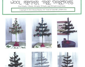 Wool Feather Tree Pattern
