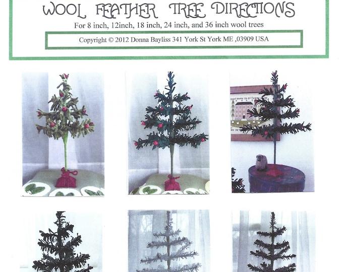 Wool Feather Tree Pattern