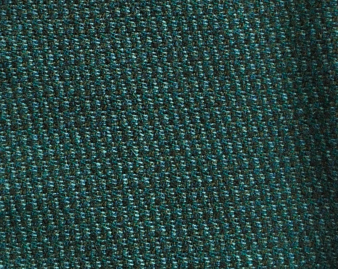 Teal Honeycomb, Fat Quarter of Felted Wool Fabric for Rug Hooking, Wool Applique and Crafts