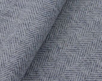 Grey Herringbone, Felted Wool for Rug Hooking, Wool Applique and Crafts